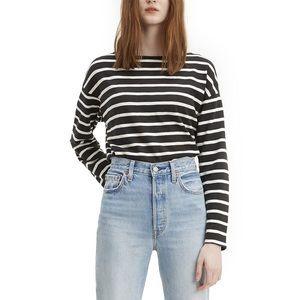 New Levi's Cora Sailor Long Sleeve striped Tee